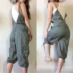 No Boundaries Pants - No Boundaries Army Green Jumper Suit